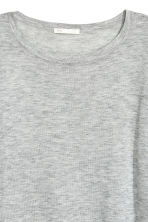 Fine-knit jumper - Light grey marl - Ladies | H&M CN 3